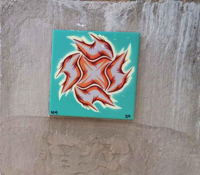 azulejo en oporto de street art