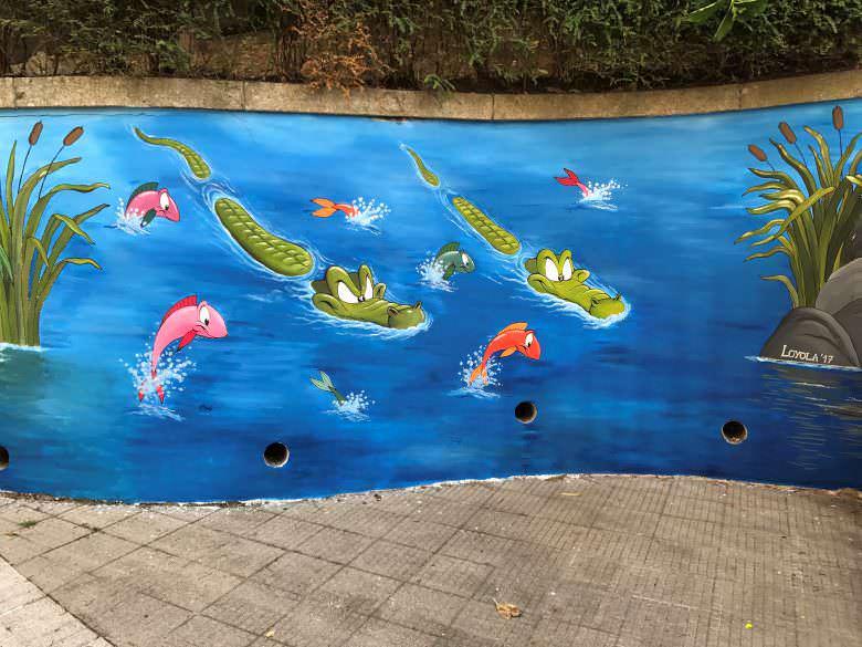 Murales en colegio Compañía de María (Vigo)