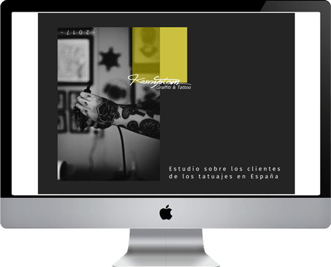 pantalla mac con portada estudio cliente tatuaje en España 2017