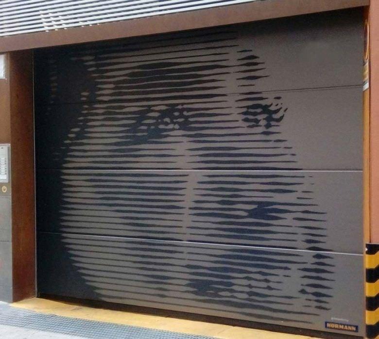 Persiana de garaje - mural
