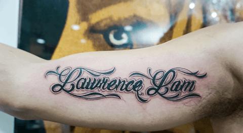 Letra Tatto Letras Escritas A Mano Para Tatuajes Copperplate Diseo - Letras-para-tatuar