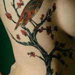 tattoo de golondrina grande a color